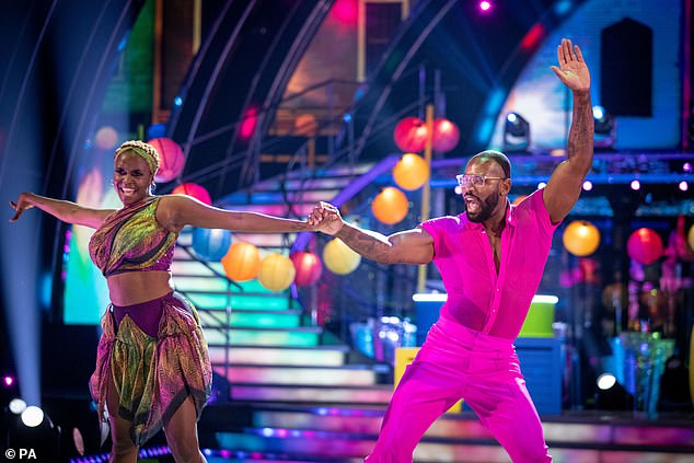Celebration: The rugby union player left the show's audience and judges in shock as he dedicated his first dance to his late father's 'celebration'