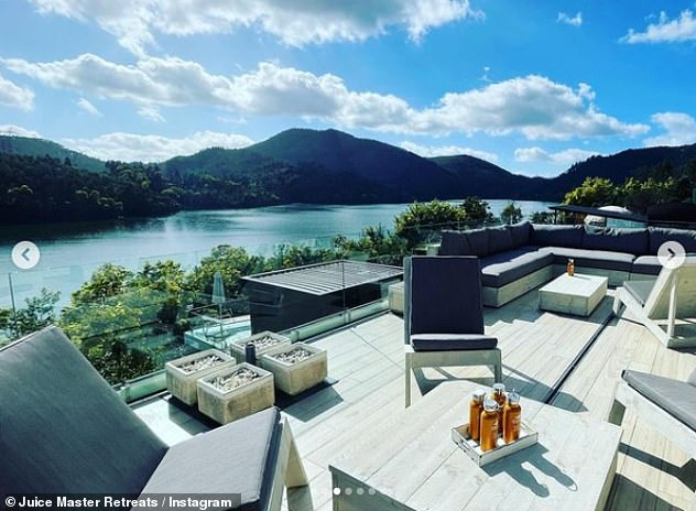 Spectacular Views: Its founder promises 'an environment that will truly nourish mind, body and soul, and lead people on a journey that will inspire and comfort in equal measures'