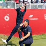 Ryder Cup: Justin Thomas and Daniel Berger DOWN beers but viewers hit out at antics 💥👩💥