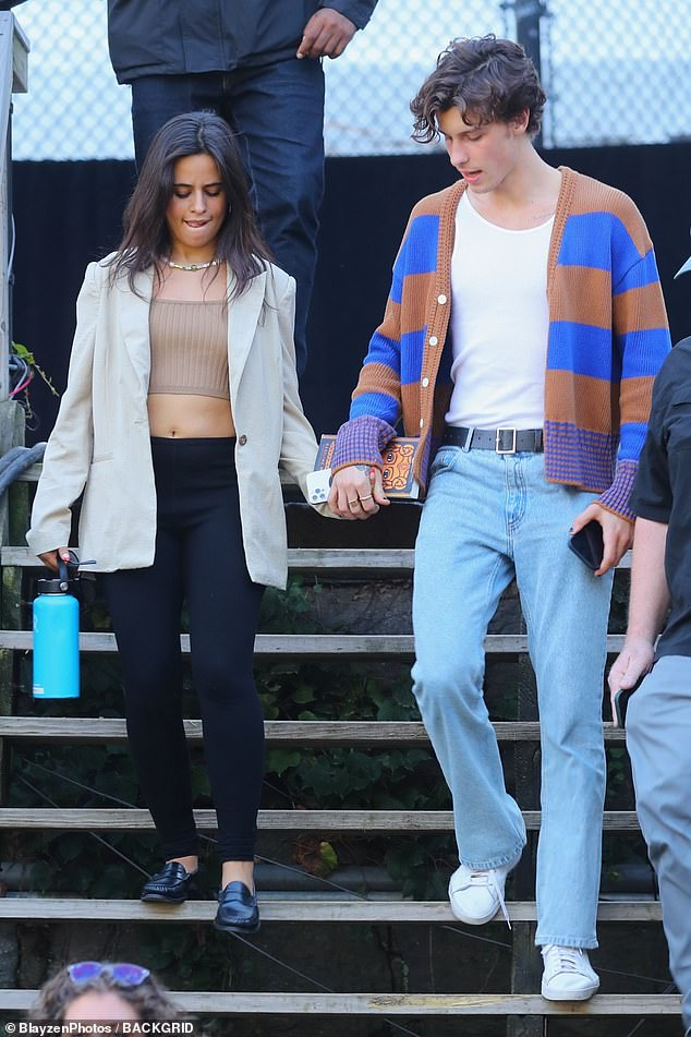 Tourists: The couple, who have been dating since 2019, were spotted holding hands in the city for the first time in the day before heading to the grounds for rehearsals.