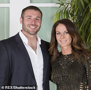 Pictured: Ben with ex-wife Abby