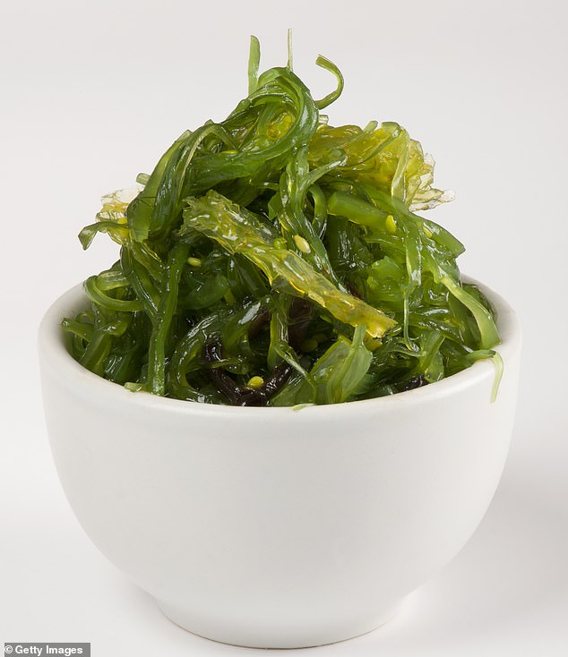 Maya said seaweed is extremely rich in insoluble fiber, which is fantastic for gut health and a little goes a long way (file image)