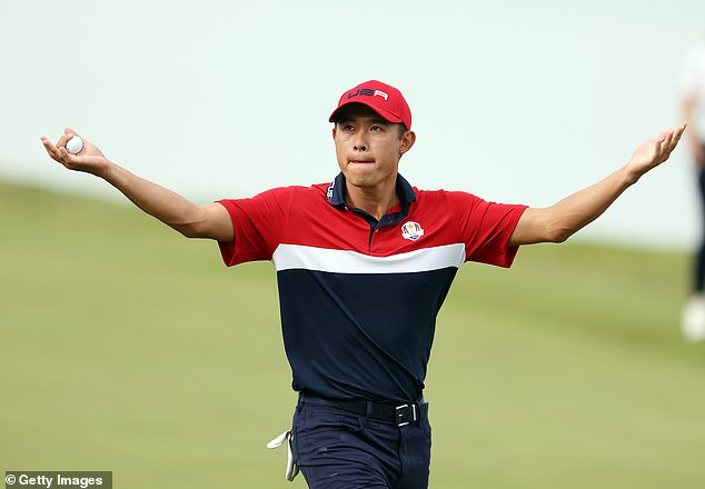 Collin Morikawa clinched the American's triumph as he halved his single match on Sunday