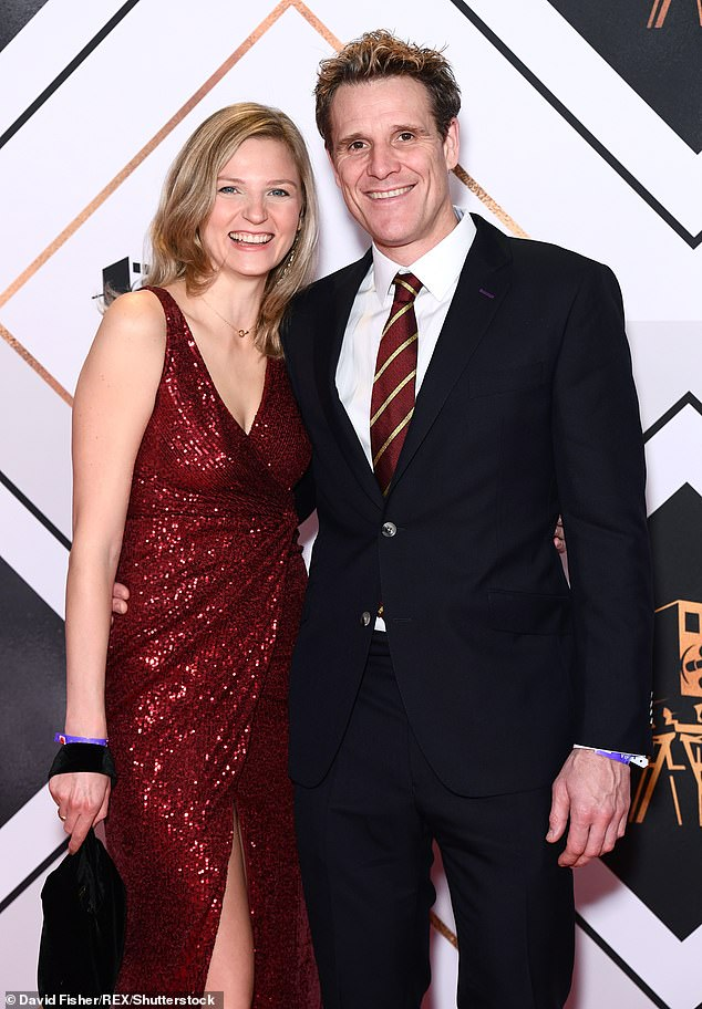 Moving on: Since divorcing his ex-wife, James remarried and tied the knot with wife Jordan O'Connell in late August (pictured above with Jordan in December 2019)