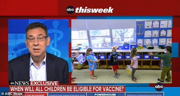 Pfizer Inc CEO Albert Boerla told ABC's This Week on Sunday (above) that the company will submit its application for FDA approval of its COVID vaccine in children aged 5-11 in