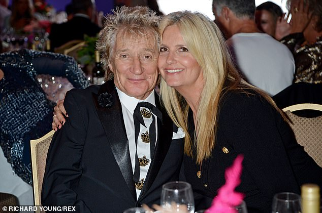 Relationship: Speaking about supporting her husband Rod Stewart, Penny said: 'He saw me change into a different woman'