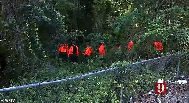 On Sunday, deputies scoured a wooded area near the apartment building in search for the missing woman