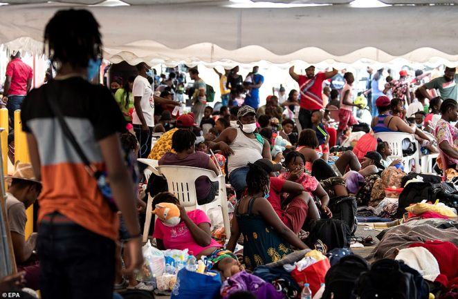 The newly released images come as thousands more Haitian migrants are embarking on a perilous journey through Latin America to reach the US, after US officials cleared out an encampment nearly 17,000 strong outside Del Rio, Texas last week