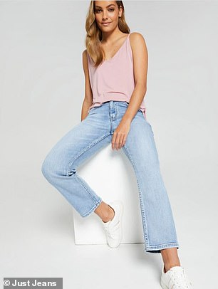 Donny's favourite straight leg styles come from Aussie denim retailer, Just Jeans; he recommends these Super Vintage Sky Hi Straight Jeans, currently reduced to $76