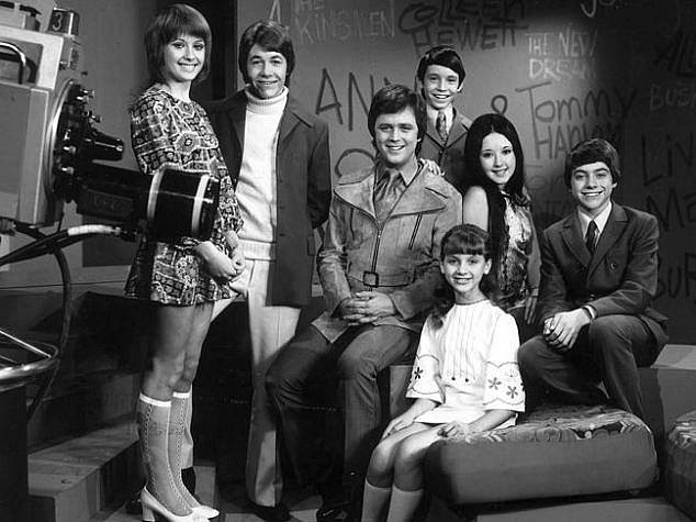Assault: In August 2014, Byrne took to Facebook with new claims she was abused on-set as a teenager, naming two of her alleged abusers and describing being assaulted in a swimming pool during the filming of 1972 film Caravan Holiday. Byrne is pictured (left) with her Young Talent Time co-stars in 1971 including Young (third from left)