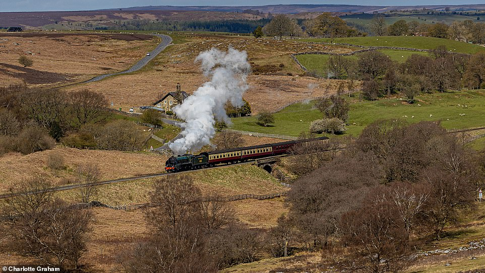 Benedict says the scenery is 'superb' from the North Yorkshire Moors Railway (above), whereTom Cruise's seventh Mission: Impossible movie was filmed