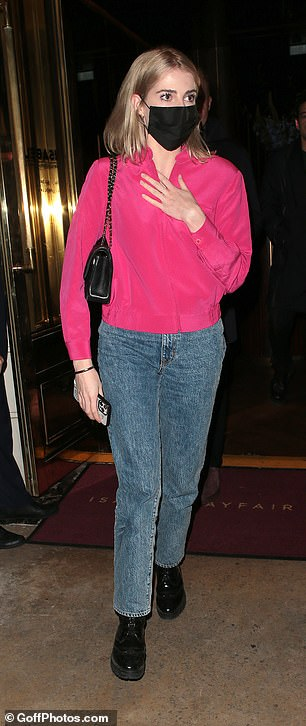 Date night:Lucy Boynton stepped out for acandlelit dinner with the actor in Mayfair