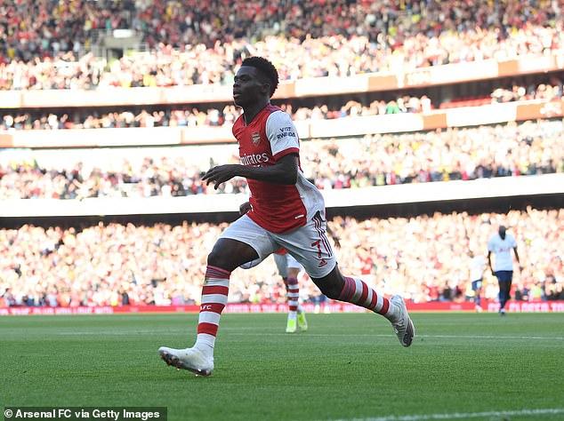 Bukayo Saka stole the show during Arsenal's impressive victory over Tottenham on Sunday