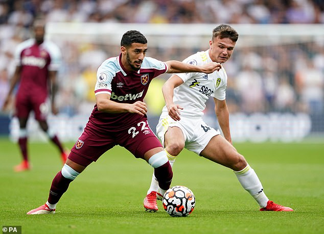 Said Benrahma provided another lively performance for West Ham when they faced Leeds
