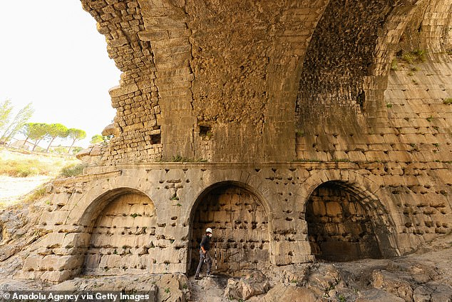 In the 1800-year-old amphitheater in the ancient city of Pergamon, special seats were found for the elite watching shows such as gladiators or wild animal fights