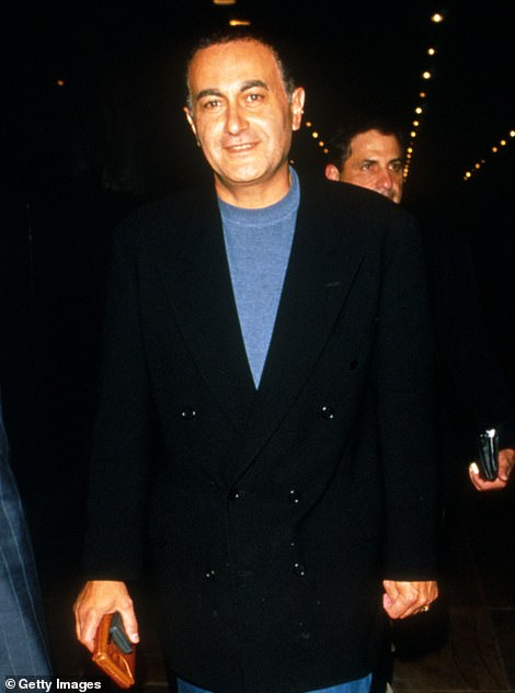 RIP: Dodi pictured above in New York, 1997, months before his death in the same car accident as the Princess