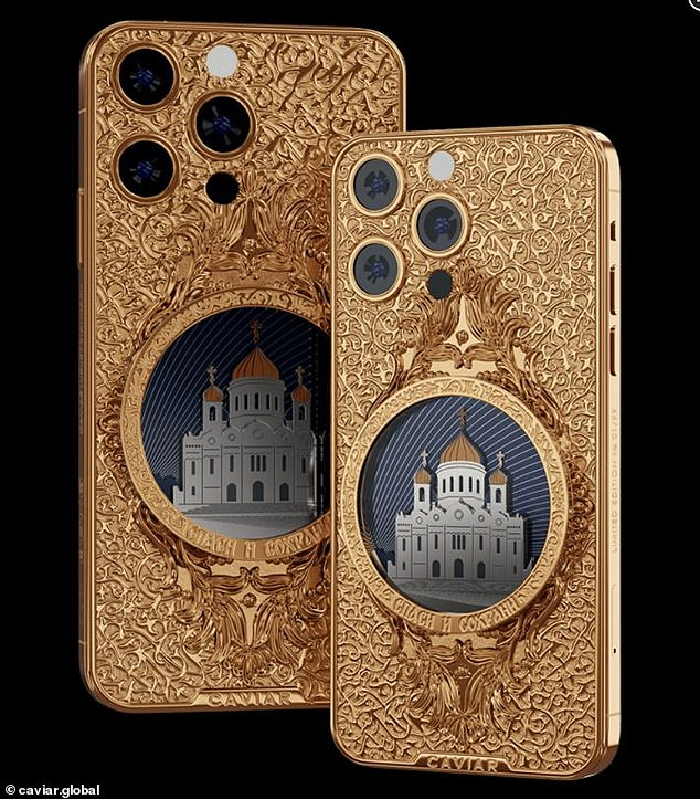 The 'Cathedral of Christ the Savior' is another phone in Caviar's luxury series.  It is named after the cathedral in Moscow, Russia.