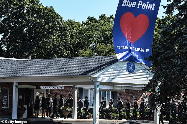 A long line of people was seen outside the Long Island funeral home to pay their respects to Petito, whose story captivated the nation