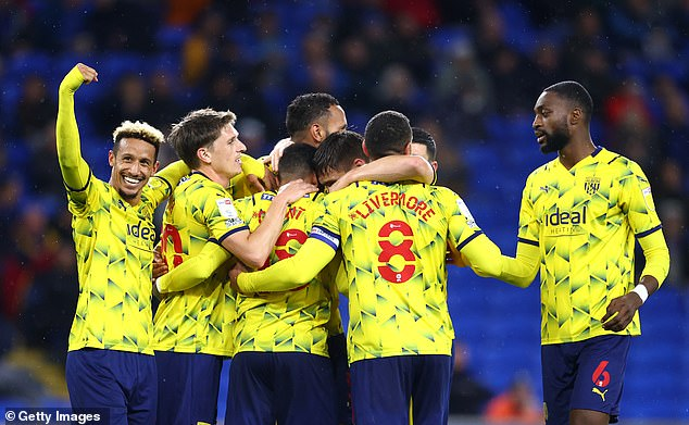 Grant (not pictured) was the architect of the home side's misery in a dominant West Brom win