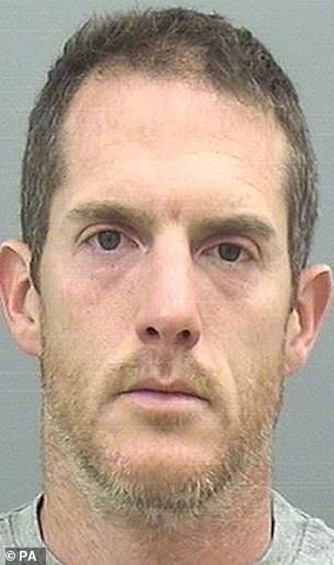 Dorset Police issued this mugshot of Timothy Brehmer after he was acquitted today of murdering his long-term lover