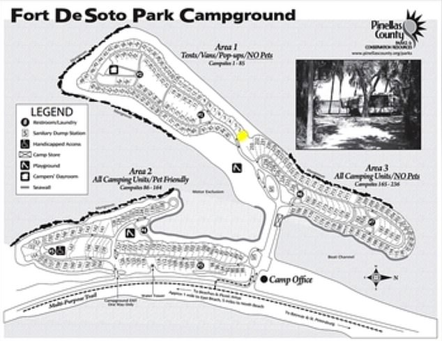 Records show that the Laundrie family checked into the Fort De Soto campground from September 6 to 8- two days before Petito was reported missing
