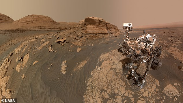 This picture of Curiosity was taken by the rover in April, nine years after reaching Mars