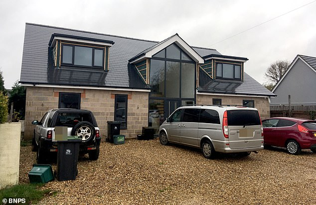 Pictured: The new house Rhodes was building with the fraudulent money she had siphoned from her employers