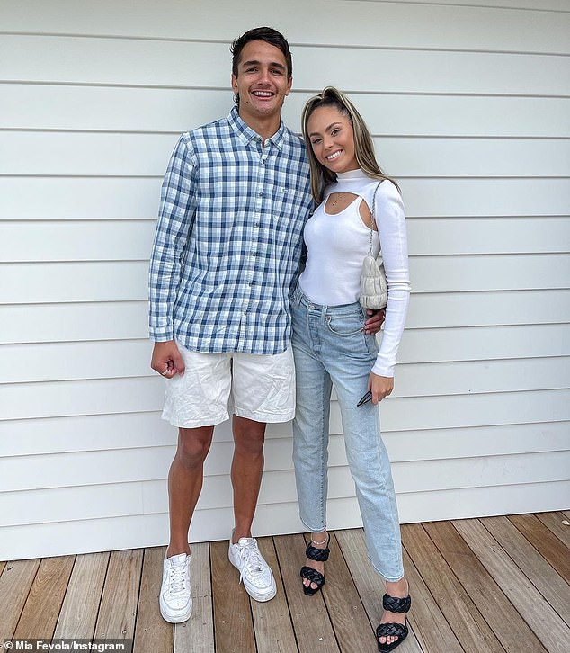 Brief romance:Mia had debuted her relationship with the rising footy star in March, meaning the pair were dating for at least six months