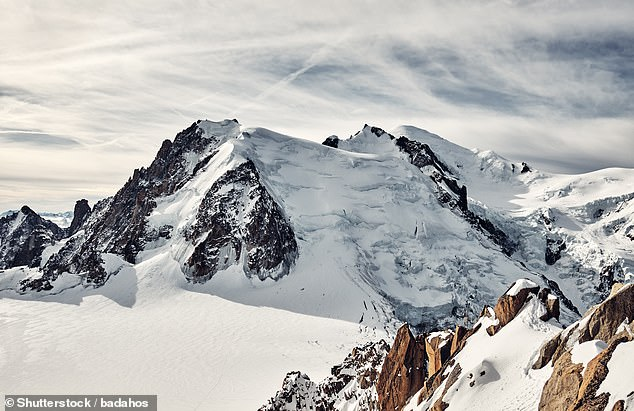 Mont Blanc (pictured), the team noted, has been losing an average of 5.1 inches (13 cm) of height every year since accurate measurements began in 2001