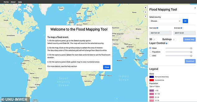 It was created by the United Nations University's Institute for Water, Environment and Health in Hamilton, Canada, with support from Google, MapBox and other partners.