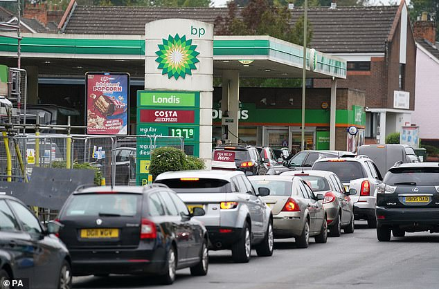 Queues: With each forecourt closure local storage capacity and the resilience in fuel supplies is diminished