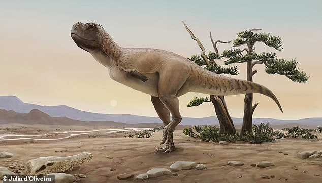 Researchers have discovered a new species of dinosaur that was 16 feet long and roamed Brazil 70 million years ago.  The hunter (pictured) is named Kurupi Itata