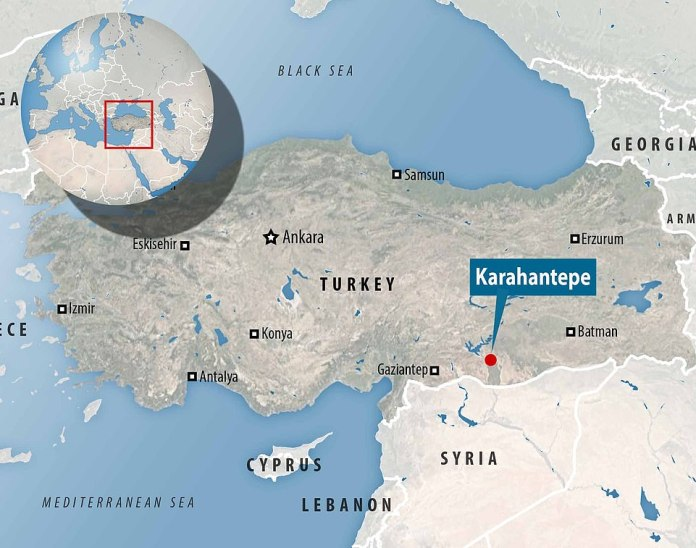 The excavation site where the carvings were found is in Karahantepe, in the southeastern province of Sanliurfa, Turkey.