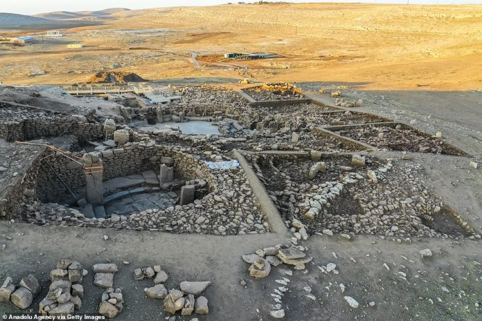 Karahantepe (pictured) neighbors the UNESCO World Heritage Site of Gobekli Tepe, which is home to megalithic structures dating back to the 10th millennium BC and is believed to be the oldest temple site in the world.