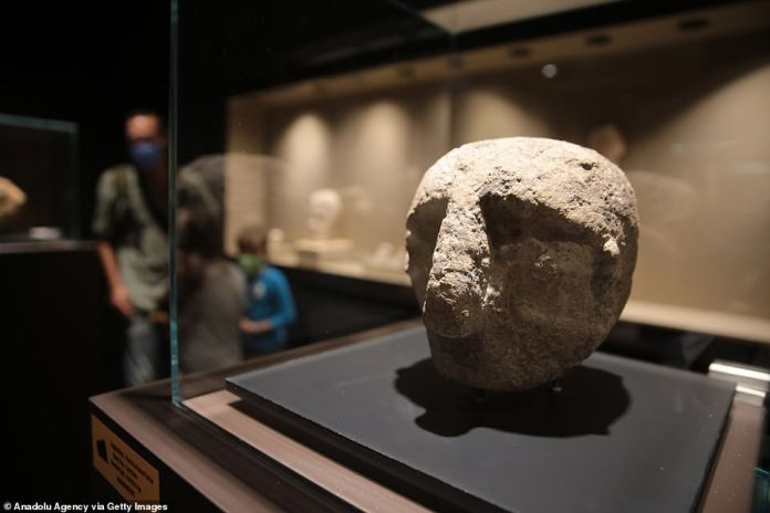 An exhibition of some of the finds has also been opened at the Sanliurfa Archaeological Museum (pictured)