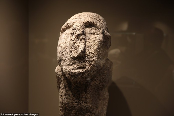 Archaeologists said the findings suggest that the artistic abilities of mankind were developed to some extent in the Neolithic period.