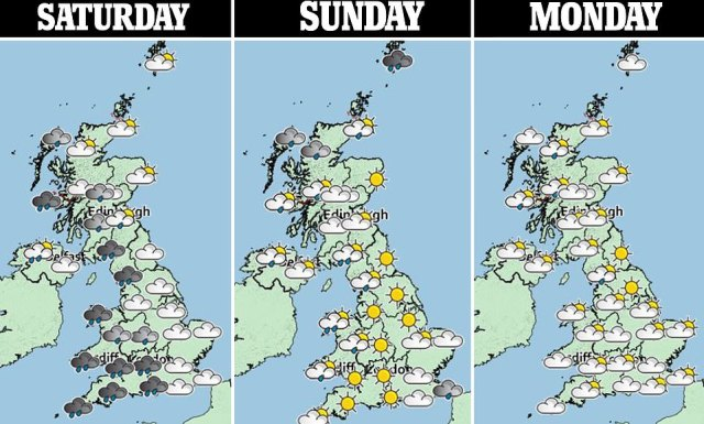 Yellow weather warnings have been issued for areas across Wales, England and Scotland for the next 48 hours