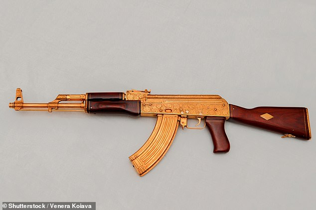 We discovered a vendor on the app offering a gold AK-47 assault rifle and delivery to UK addresses within four days