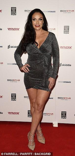 Designer apparel: Marilyse Corrigan, 37, wore Valentino heels to the event