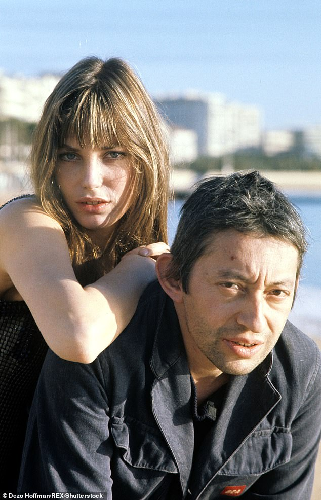 Birkin was in a relationship with French singer-songwriter Gainsbourg (pictured) from 1968 to 1980 and provided the orgasms heard on his controversial track Je T'aime... Moi Non Plus.