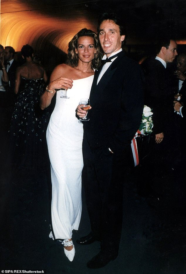 Pauline is the 16th in line to the Monaco throne and the daughter of Stephanie and her former bodyguard Daniel Ducruet (pictured with Stephanie in 1996).
