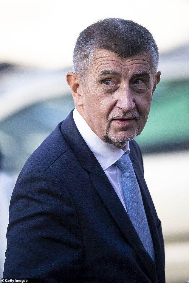 Czech Prime Minister Andrej Babis (pictured ) failed to declare an offshore investment company used to purchase two villas for £12million in the south of France