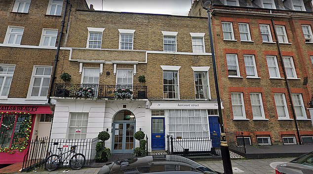 While the Blairs' purchase of the London office (pictured) was not illegal, its revelation comes after the former Labour leader has been critical of tax loopholes, once saying that 'the tax system is a haven of scams, perks, City deals and profits'