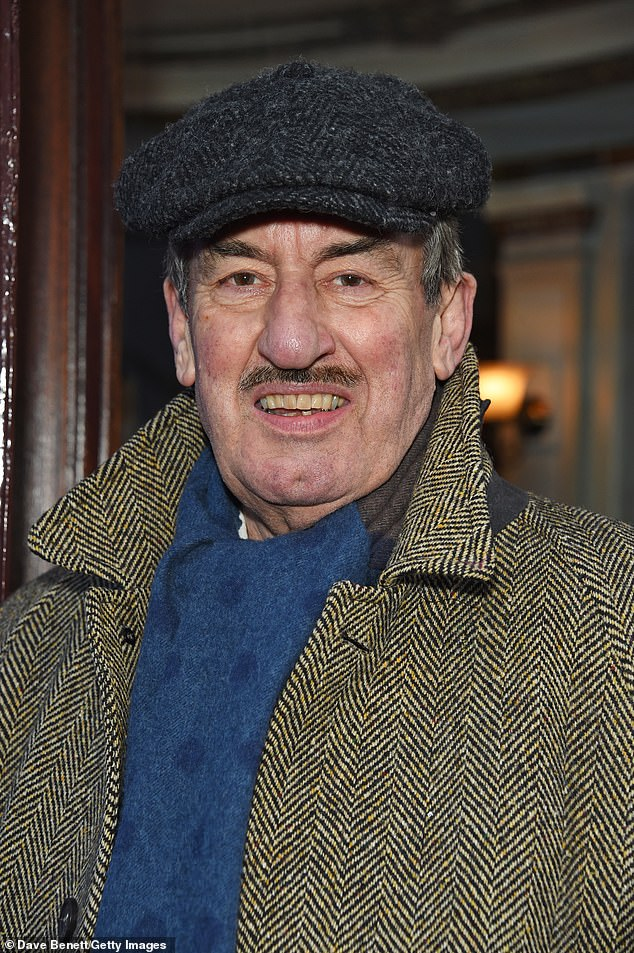 John Challis (pictured) died 'peacefully in his sleep' in September following a long battle with cancer