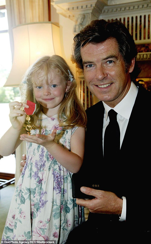 Since Charlotte¿s death, Isabella has stayed out of the public eye (pictured with Pierce in 2003 at the age of four)