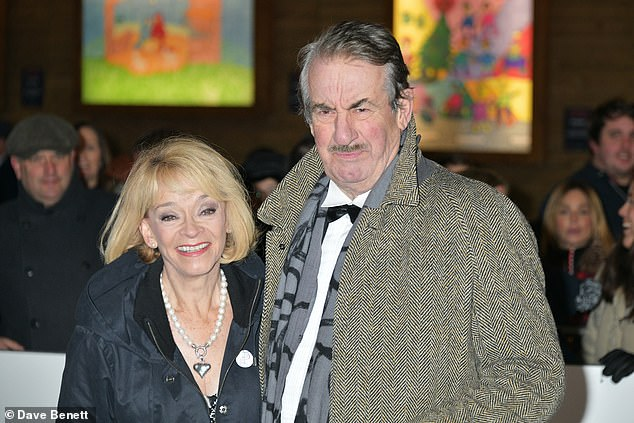 The actress who played the late Only Fools and Horses actor's onscreen wife, Susan Joan Pringle Holderness (Left) pictured with John Challis (Right)