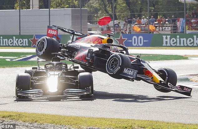 Bitter title rivals crashed two months later at the Italian Grand Prix at Monza