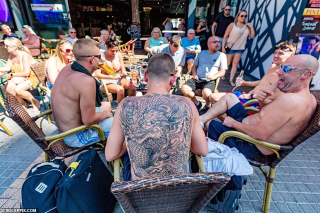 The current level of British tourists in Benidorm is at its highest since March 2020 when the coronavirus pandemic brought the travel industry to a standstill