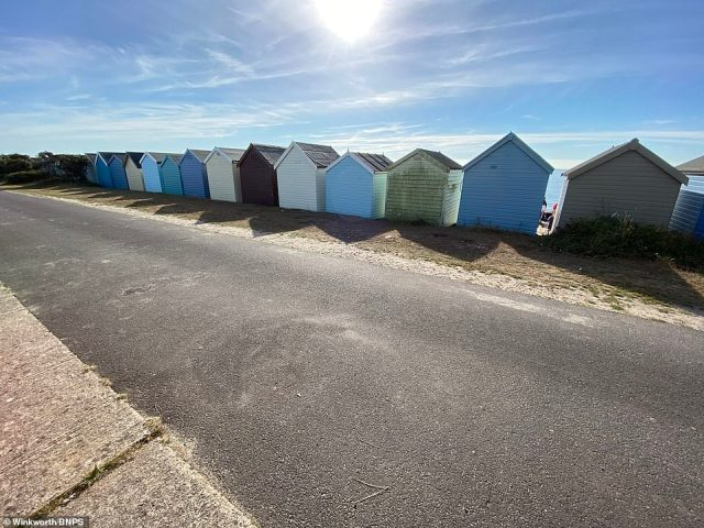 Gareth Bowden, from local estate agents Winkworth, said beach huts on the front row at Friars Cliff sell for as much as £90,000 recently, but this older hut is on the second row and listed for £60,000