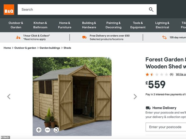 The run-down cabin has been likened to a garden shed that could be purchased from the B&Q website for just £559, 12 times less than the £60,000 asking price of the beach hut